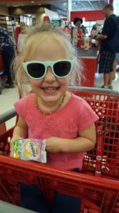 Training Emma in the joys of the Target run