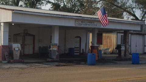 Gas station in small-town America