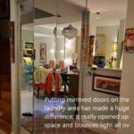 The new mirrored doors